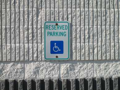 "3/16"" x 1-1/4"" hex tapcon - block - reserved parking sign"