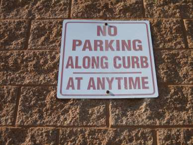 "3/16"" x 1-3/4"" hex tapcon - block - no curb parking sign"
