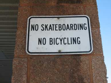 "1/4"" single expansion anchor - block - skateboarding sign"