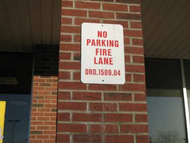 "1/4"" x 1-3/4"" hex CONFAST - concrete - no parking sign"