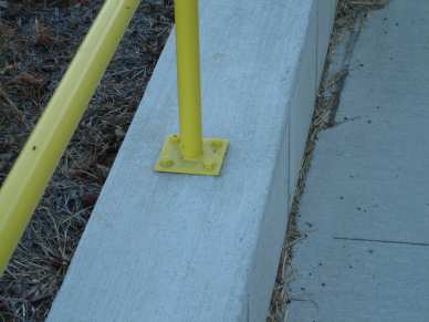 "3/8"" x 2-3/4"" zinc plated wedge anchors - concrete - guard rail"