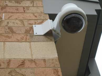 "1/4"" lag shield short - brick - surveillance camera"