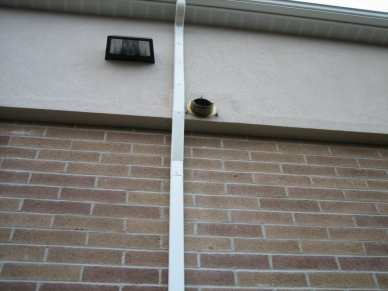 "1/4"" x 7/8 hammer drive - brick - downspout"