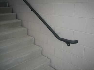 "1/2"" lag shield long - block - hand railing"