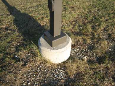 "5/8"" x 7"" hot dipped galvanized wedge anchor - concrete -post"