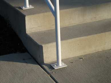 "3/8"" 304 stainless steel drop in anchor - concrete - stair railing"