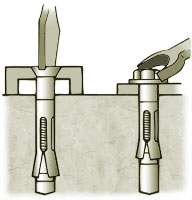 Use wrench to set anchor by turning nut 3 to 4 full turns.